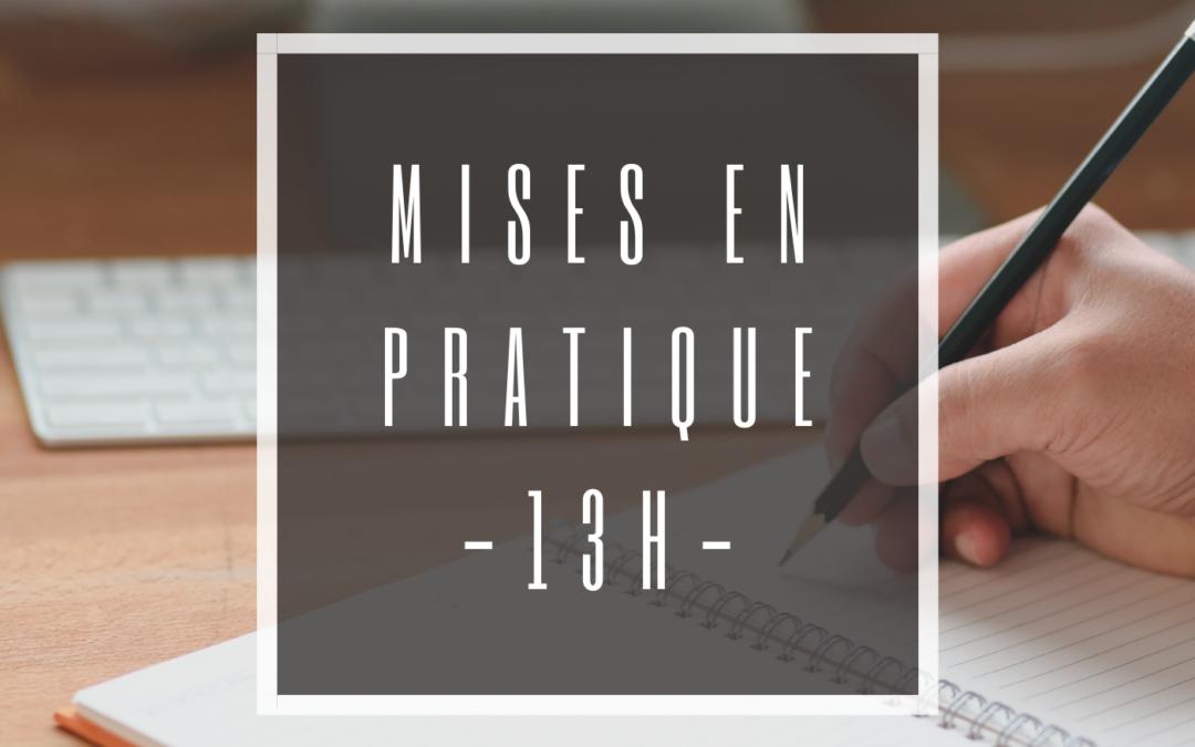 « ACCOMPAGNER L'ENTREPRENEUR DIRIGEANT DANS UNE LOGIQUE PATRIMONIALE » (II) MISES EN PRATIQUE (13H)