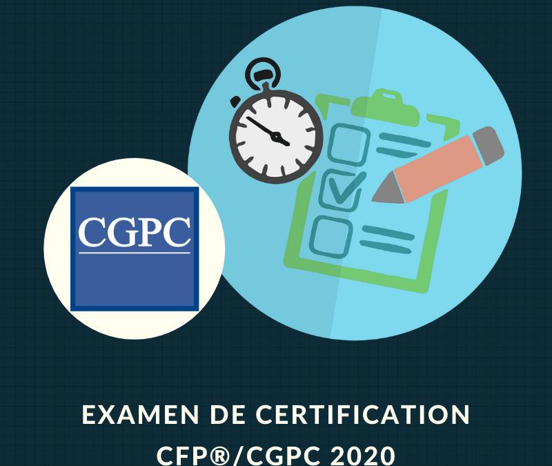 EXAMEN DE CERTIFICATION CFP®/CGPC MARS 2021